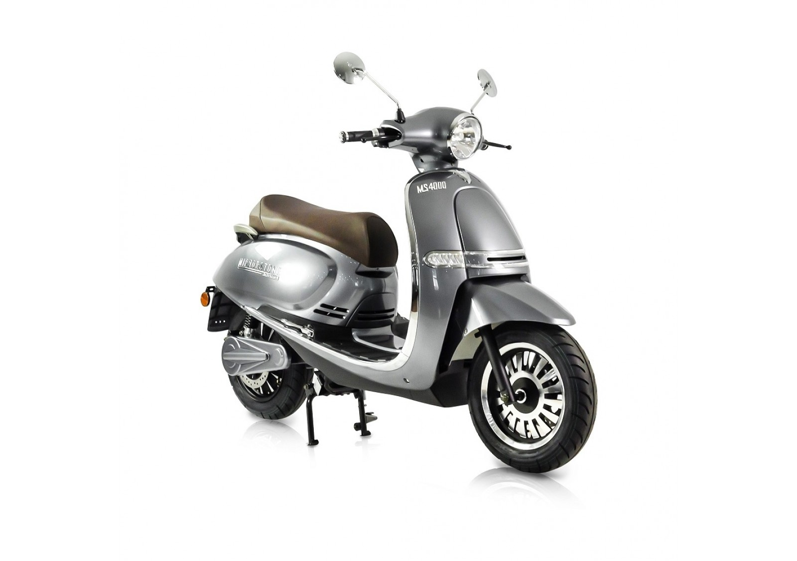 MS4000 Silver Vintage Electric Scooter