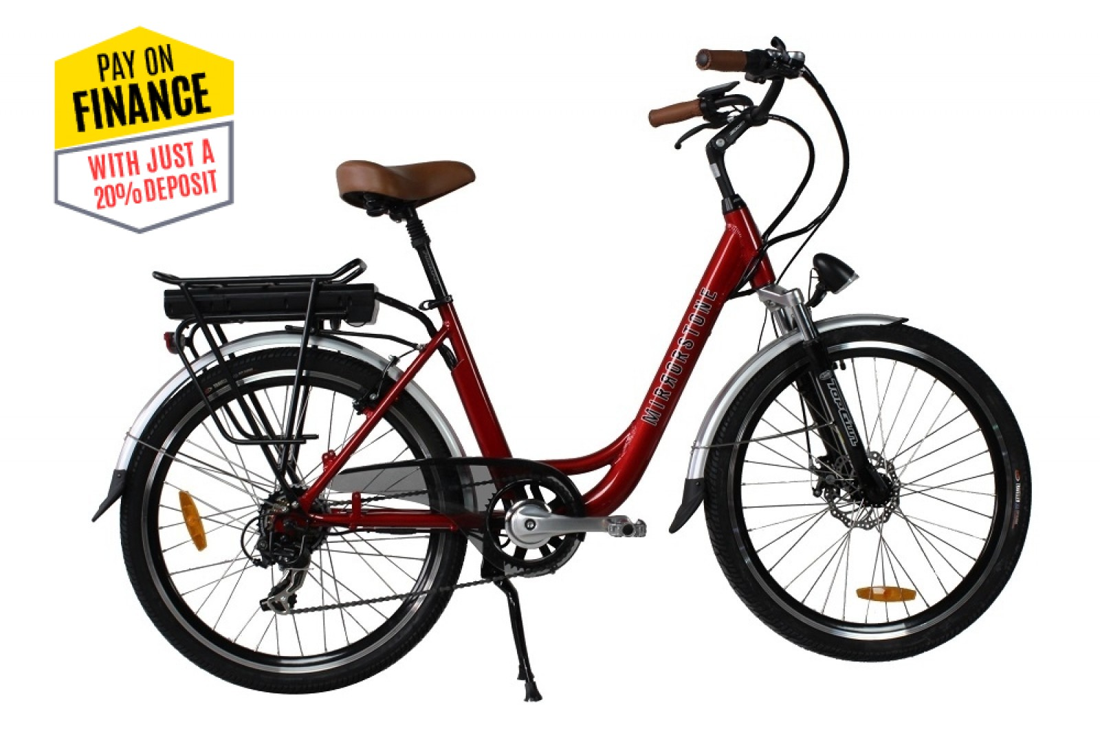 "Sprint Electric Bike Cherry Red 24"" Wheels"