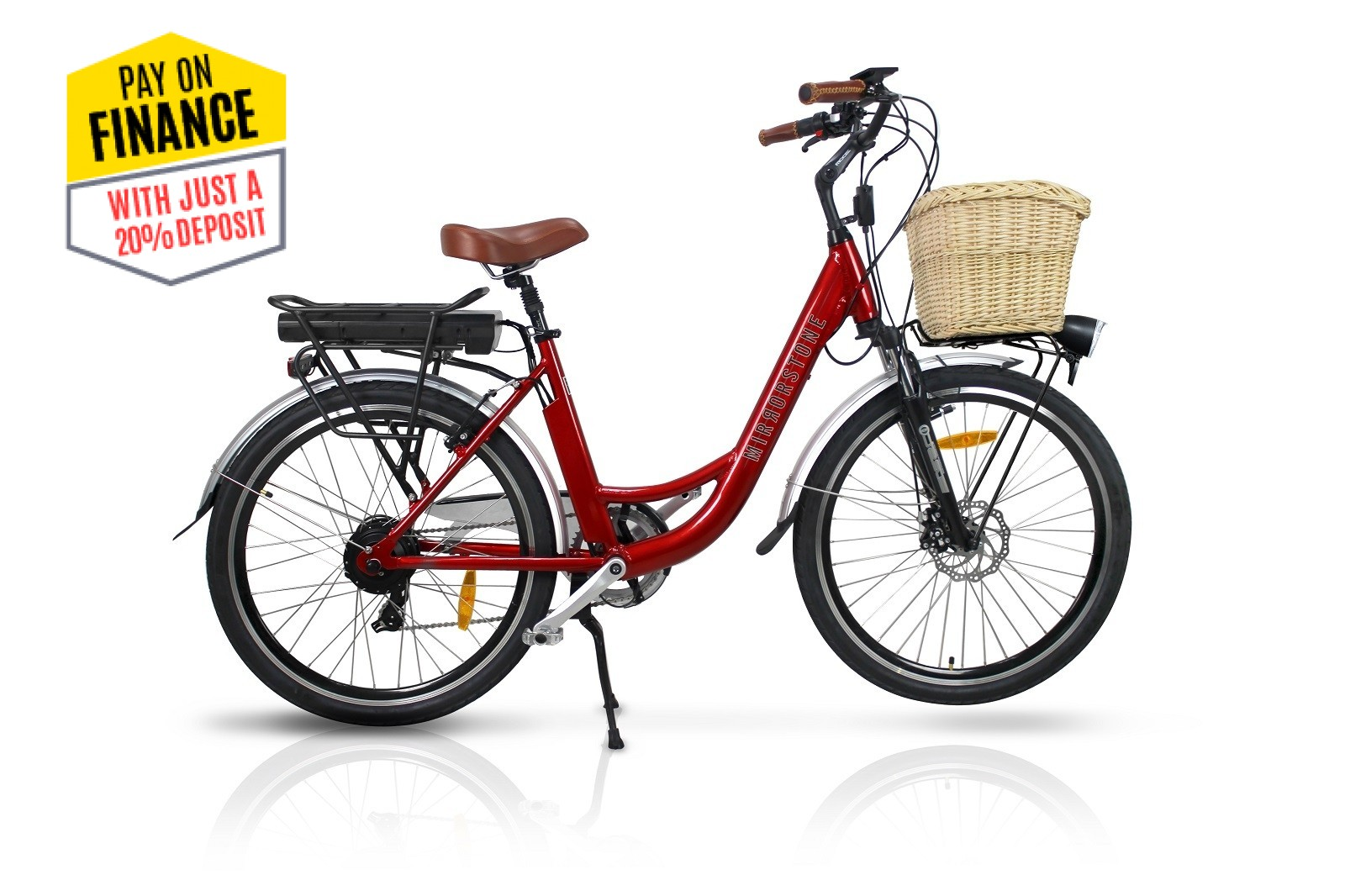 "Vintage Dutch Style Electric Bike Cherry Red 26"" Wheels - Last 2 Left Until Next Year!"