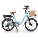 "Sprint Electric Bike Sky Blue 24"" Wheels"