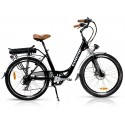 "Vintage Dutch Style Electric Bike Black 26"" Wheels (No Basket)"