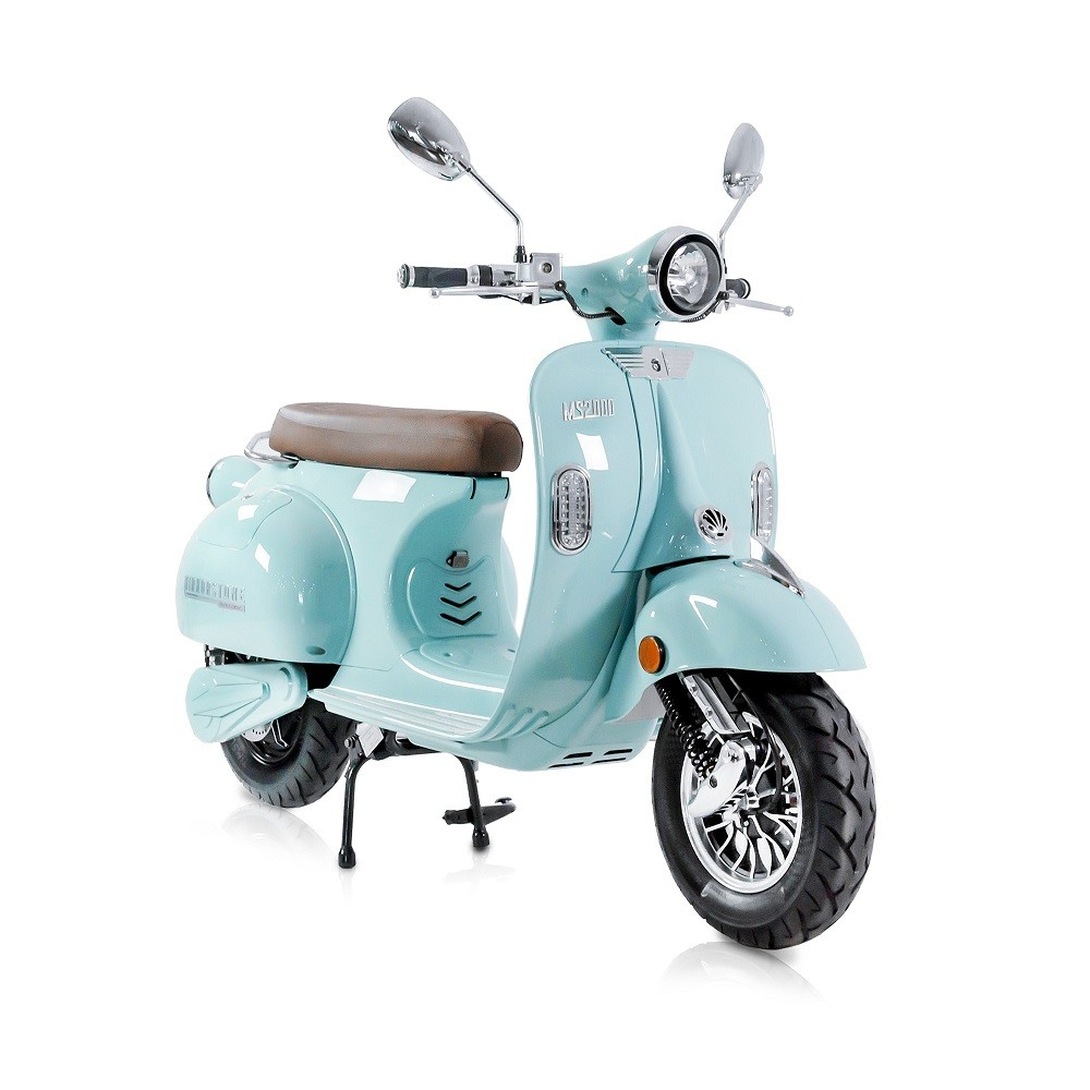 MS2000 Sky Blue Vintage Electric Scooter 50cc Equivalent (Last Few Remaining)
