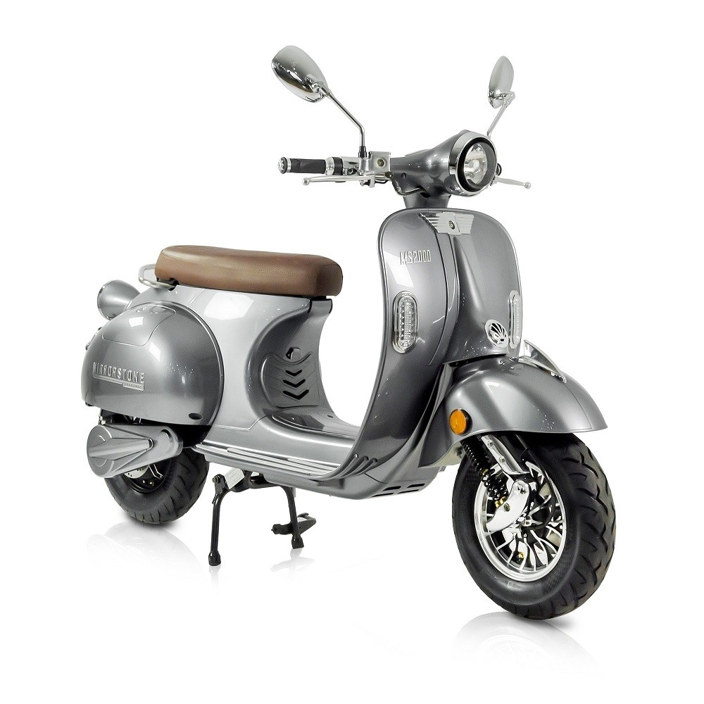 MS2000 Silver Vintage Electric Scooter 50cc Equivalent (Limited Availability)