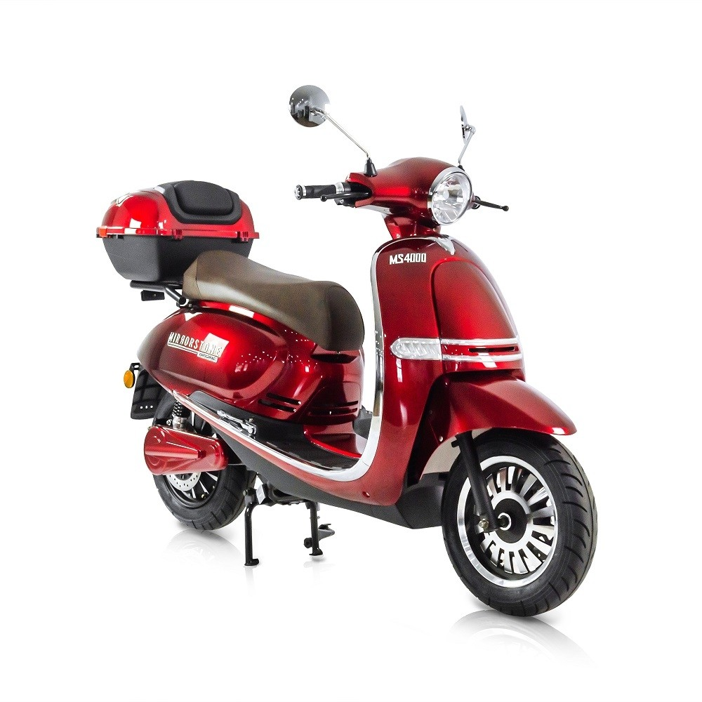 MS4000 Red Vintage Electric Scooter 125cc Equivalent (Limited Stock)