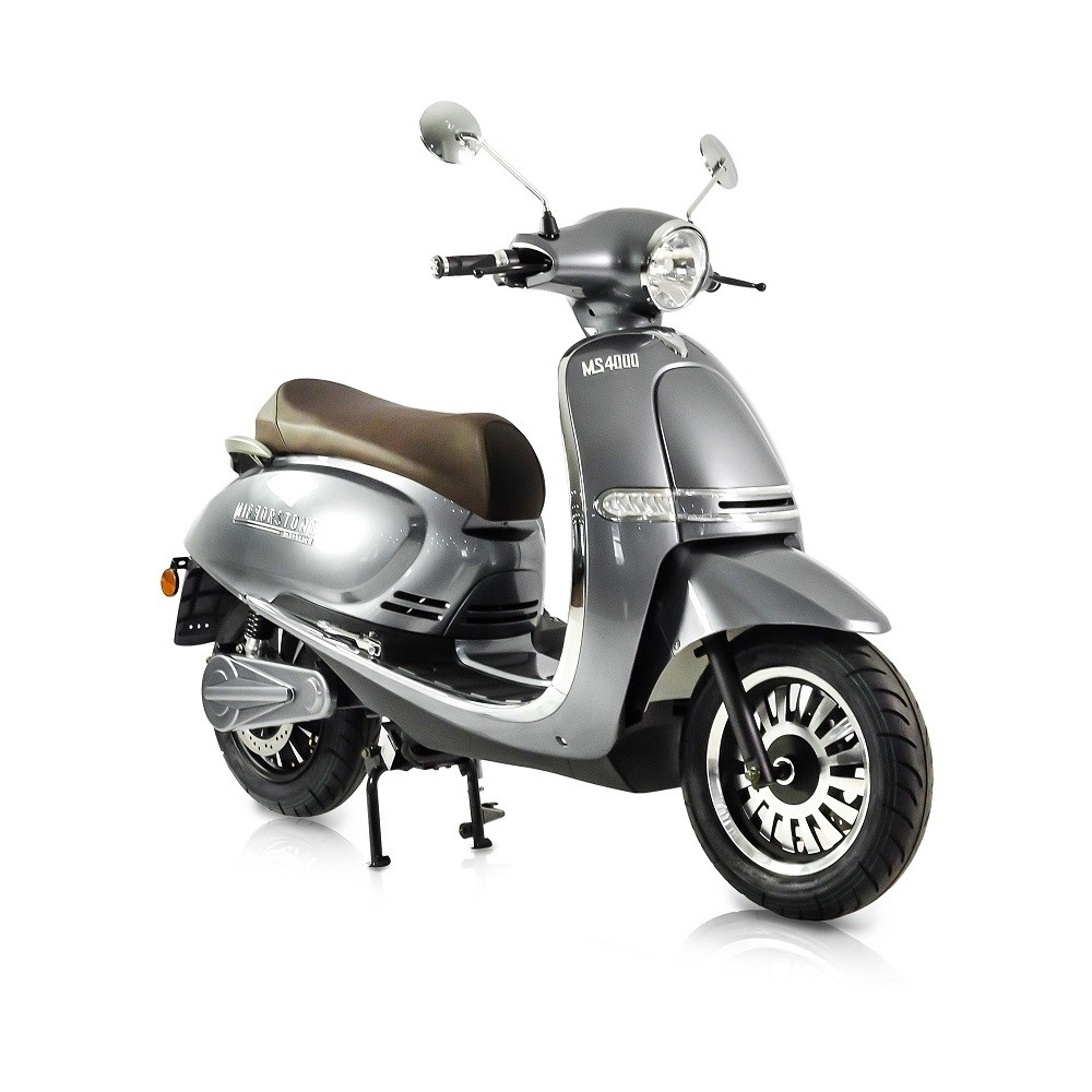 MS4000 Silver Vintage Electric Scooter 125cc Equivalent (Best Price Online)