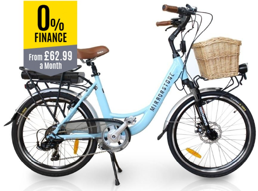 "Vintage Dutch Style Electric Bike Sky Blue 26"" Wheels - All Sold Now!"