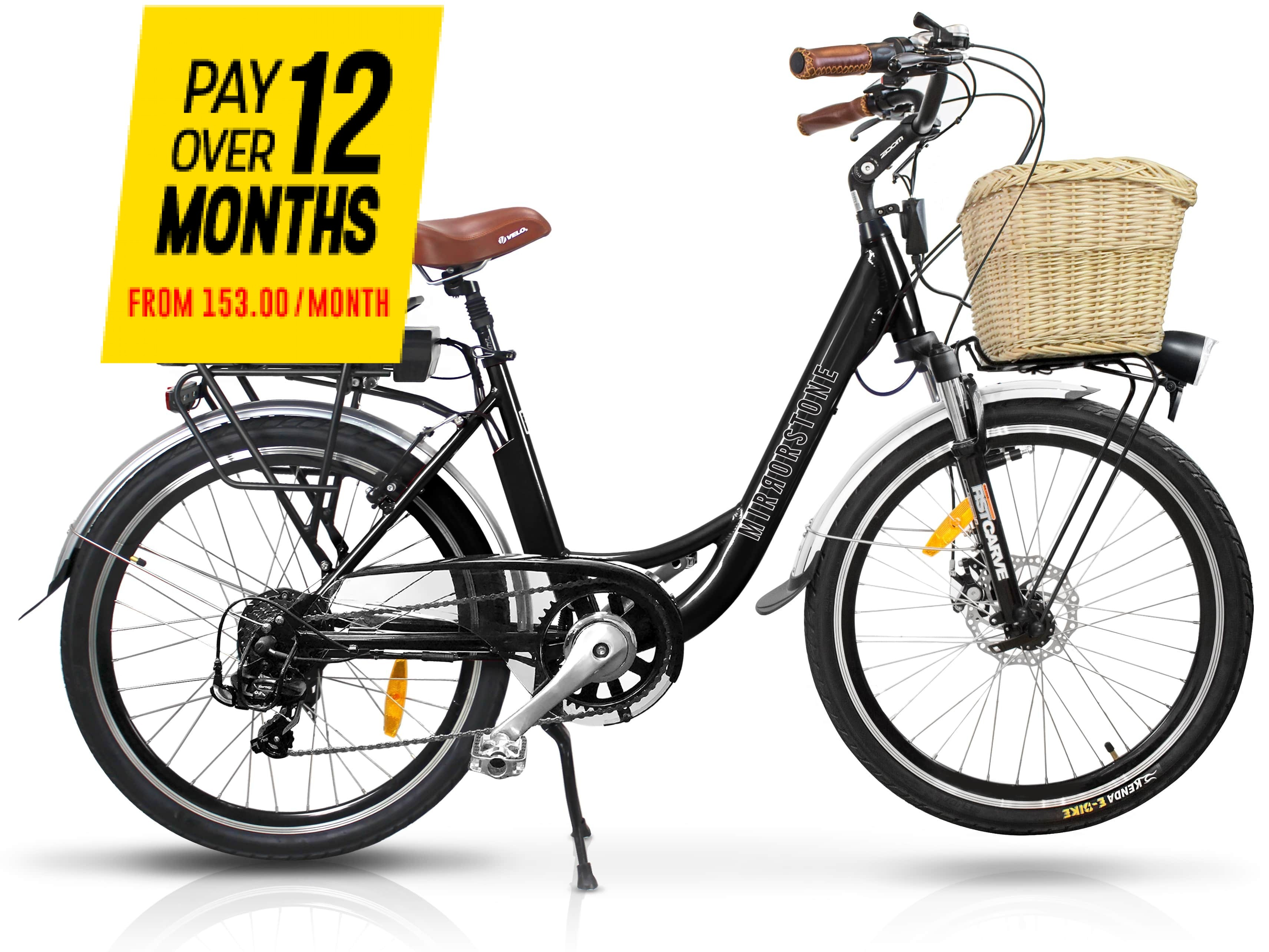 Sprint Electric Bike Black Wheels - Now In Stock!