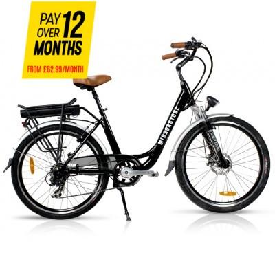 """Vintage Dutch Style Electric Bike Black 26"""" Wheels (No Basket)"""