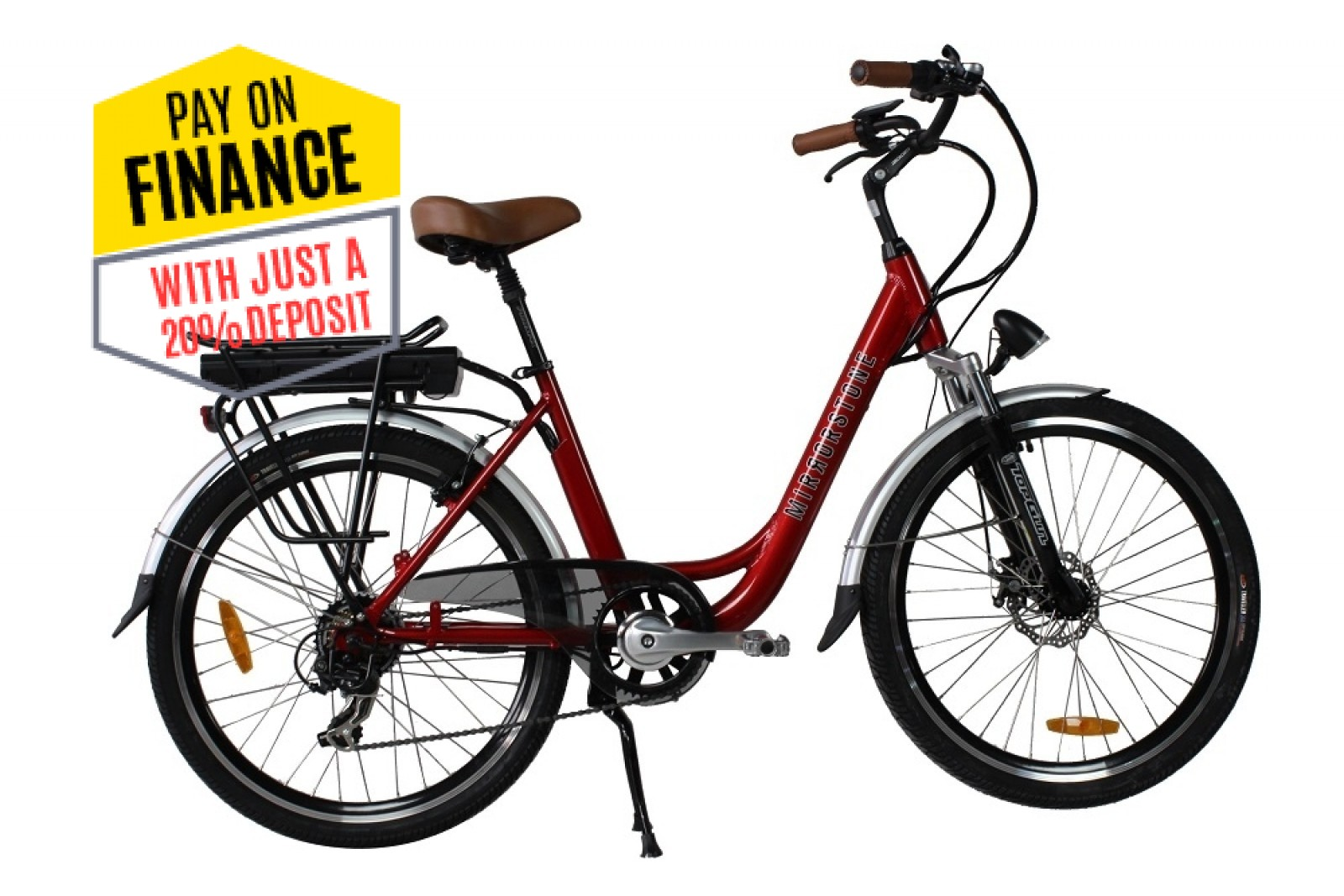 Sprint Electric Bike Cherry Red Wheels - Less Than 4 Bike's Left in Stock - Buy Now!