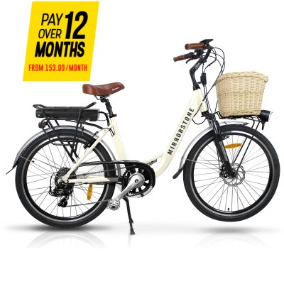 Sprint Electric Bike Milky White Wheels - Free Next Day Shipping