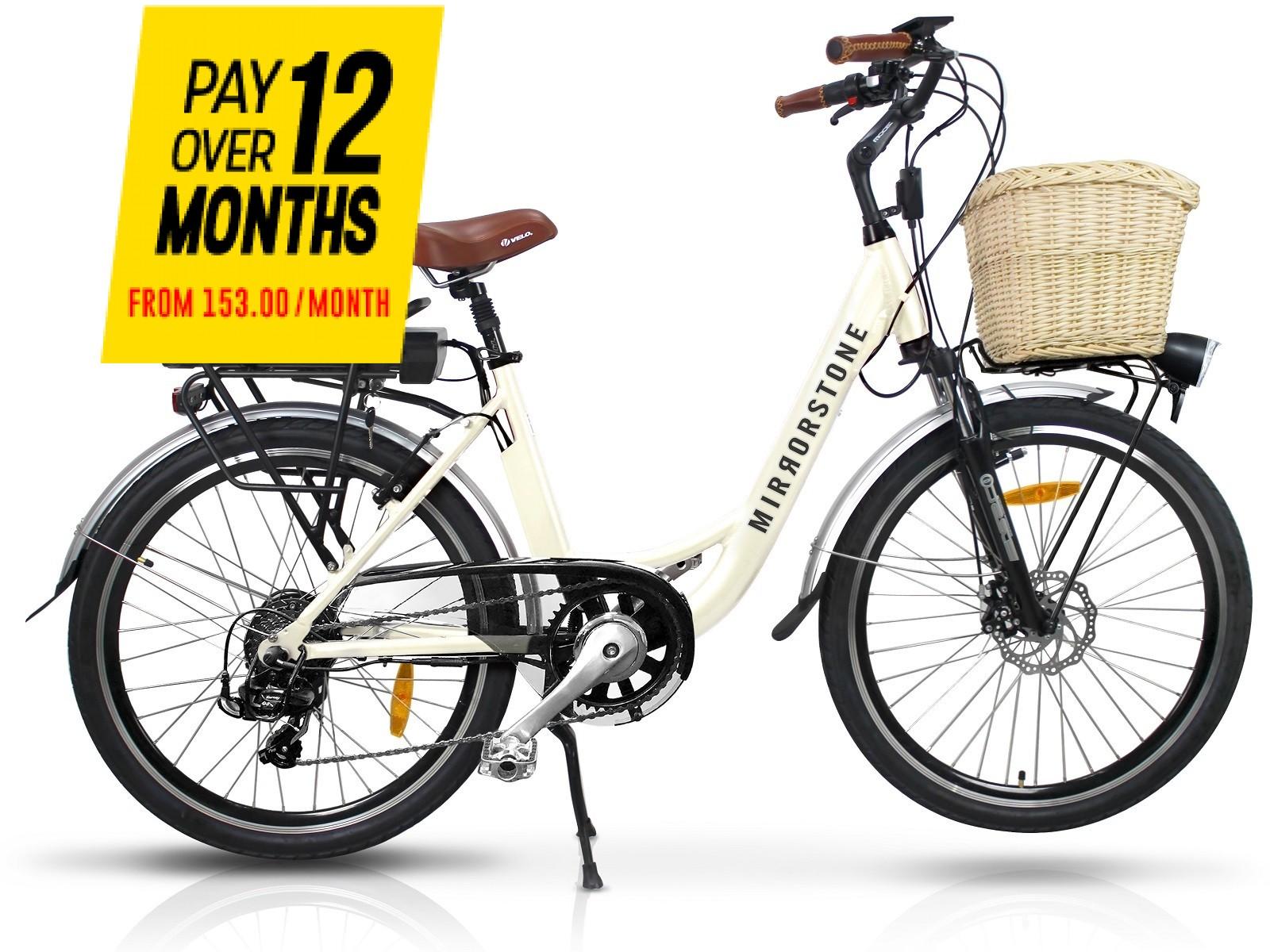 Sprint Electric Bike Milky White Wheels - Free Next Day Shipping