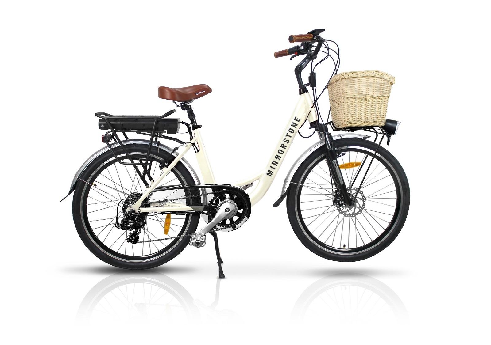 vintage dutch style electric bike milky white 26 wheels. Black Bedroom Furniture Sets. Home Design Ideas
